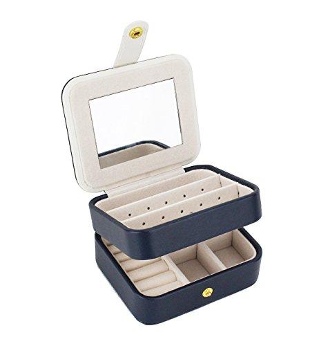 Zmart Portable Travel Jewelry Box Organizer Earring Ring Holder Necklace Storage Case...
