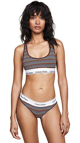 Calvin Klein Underwear Women's Prism Stripe Bralette, Prism Stripe Print/Black, Medium by Calvin Klein