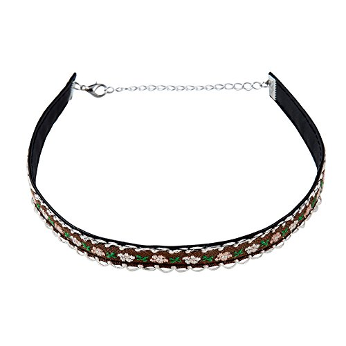 Zealmer Vintage Flowers Choker Necklace