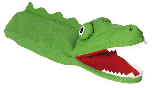 Goki 51988 - Handpuppe Krokodil