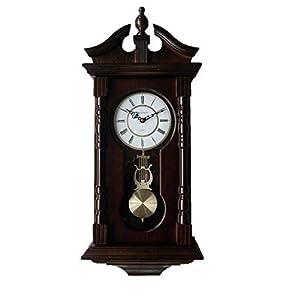 Relojes de pared: Reloj de pared del abuelo con carillón, de madera. Reloj de péndulo tradicional de madera. Ideal como regalo de cumpleaños o de inauguración de la casa. De Vmarketingsite – El reloj de pared suena cada hora con la melodía Westminster.