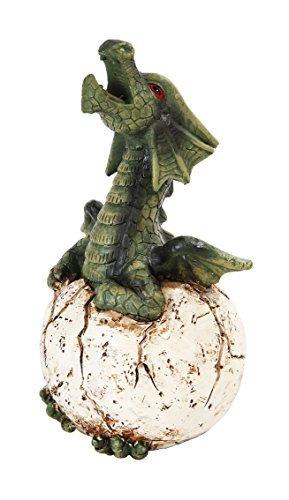 UPC 726549105265, 6.25 Inch Green Dragon Egg Hatchling Incense Burner Statue Figurine
