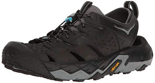 HOKA ONE ONE Men's Tor Trafa Hiking Sandal,Anthracite/Black,US 10.5 M