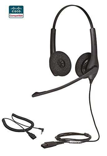 Cisco certified Jabra Biz 1500 Duo QD Direct Connect Head...