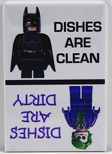 Clean/Dirty Batman & The Joker Dishwasher Magnet. Extra Strong Magnet! End Kitchen Problems! 100% Made in the USA!