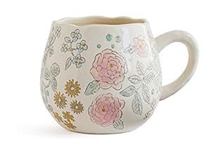 Dorotea Hand Painted Coffee/Tea Mug, 16-Ounce, Set of 4