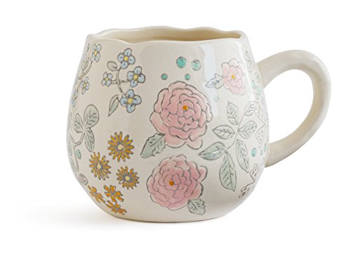 - Dorotea Hand Painted Coffee/Tea Mug, 16-Ounce, Set of 4