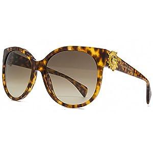 Alexander McQueen Skull Detail Cateye Sunglasses in Havana AMQ 4245/S 2IC 58