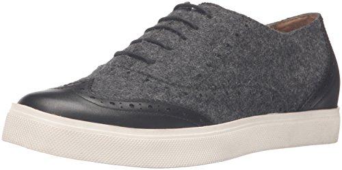 G.H. Bass 5S07InKR1D Women's Lacey Fashion Sneaker, Nickel Metallic, 9 M US Grey/Black