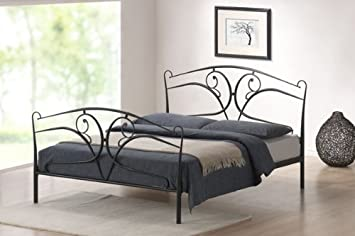 New 5ft King Size Classic Gothic Victorian Black Metal Bed Frame