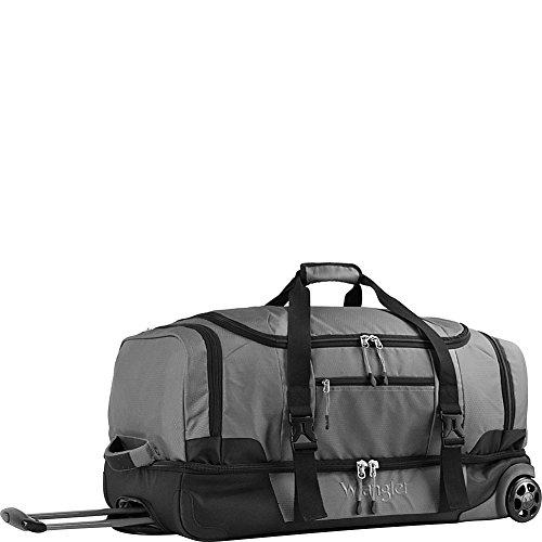 "Travelers Club Luggage Wrangler 30"" 2-sec. Drop Bottom Rolling Duffel, Charcoal Gray, One Size"