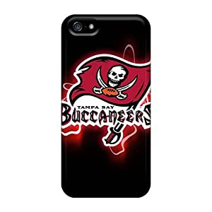 Shock Absorbent Hard Cell-phone Cases For Iphone 5/5s With Custom Lifelike Tampa Bay Buccaneers Pictures IanJoeyPatricia