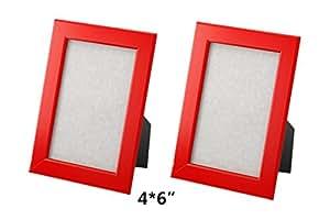 ikea nyttja frame 4x6 set of 2 frames red. Black Bedroom Furniture Sets. Home Design Ideas
