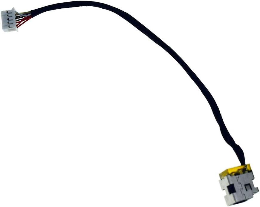 DREZUR DC_in Power Jack with Cable Harness Compatible for HP Pavilion DV6-3000 DV6-3010US DV6-3015SO DV6-3107TU DV6-3015SR DV6-3050US DV6-3051EE Series Laptop 603692-001