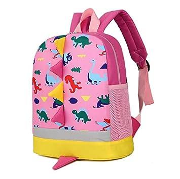 MTSZZF Mochilas Escolares, niños pequeños bebés niños niños Dinosaurio Lindo patrón Animales Mochila Mochila Escolar - Rosa: Amazon.es: Hogar