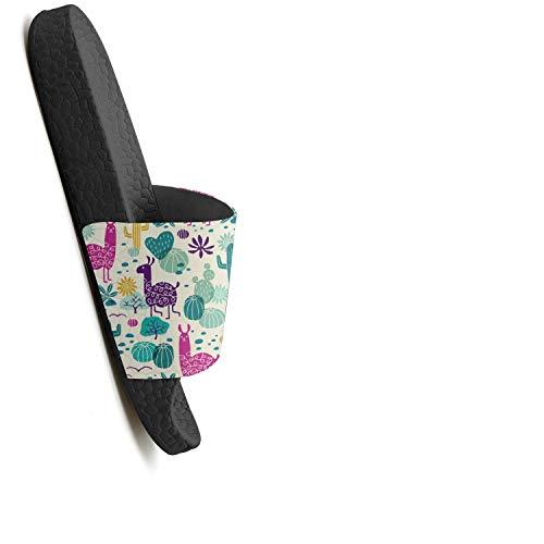 Cactus Pink 1 Slides Wilderness Pattern Summer Women HSJDAPOCOAQ for Cactus Llama q5nvdxf