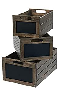 Amazon.com: Wooden Storage Crates Bin Vegetable Potato