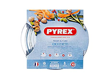 Pyrex Steam & Care - Vaporera de vidrio, 20 cm