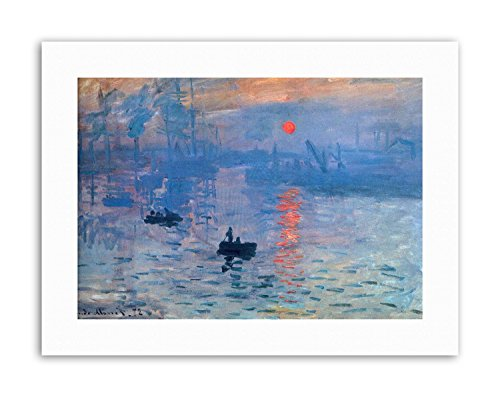 - Wee Blue Coo Claude Monet Impression Sunrise Picture Painting Old Master Canvas Art Prints