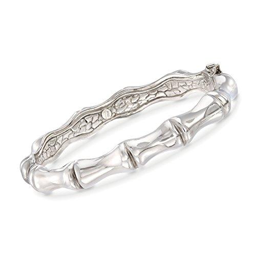 (Ross-Simons Italian Sterling Silver Bamboo Bangle Bracelet)