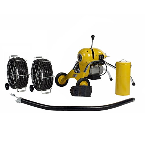 Steel Dragon Tools K1500B Drain Cleaner Cleaning Machine 120' C11 Snake Cable