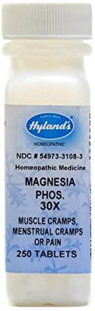 Hyland's Magnesia Phosphorica 30X Tablets, Natural Relief of Muscle Cramps, Menstrual Cramps or Pain, 250 Count