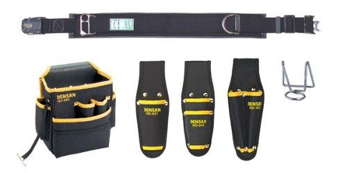 DENSAN 腰道具セット(キャンバスタイプ) NDS-97BK-SET   B00L3YI0CW