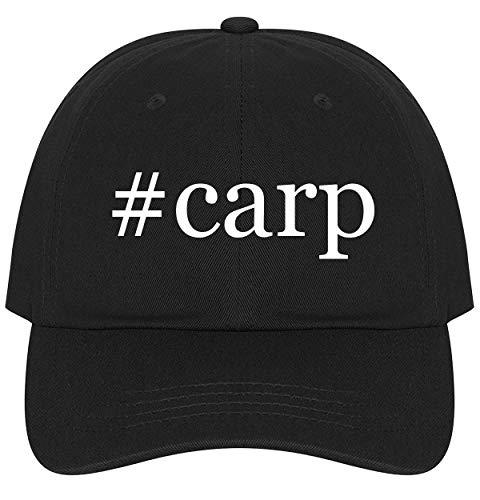 The Town Butler #carp - A Nice Comfortable Adjustable Hashtag Dad Hat Cap, Black
