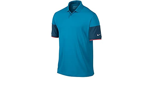 9fc41f6b Amazon.com: Nike Major Moment Commander Golf Polo 2015 CLOSEOUT LT Blue  Lacquer/Blue Force/Daring Red/Wolf Grey X-Large NEW: Sports & Outdoors