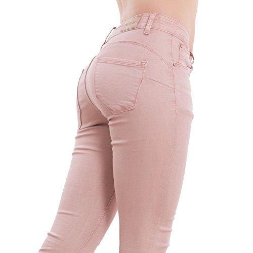 Skinny Mujer Rosa Vaqueros para Toocool pwqUROx