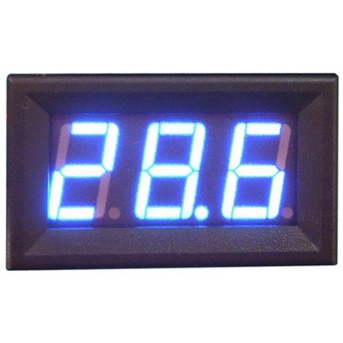 Blue LED Panel Meter Mini DC Digital Voltmeter Three-wire 0-99.9V