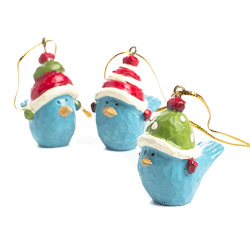 Factory Direct Craft Christmas Holiday Whimsical Bluebird Ornaments