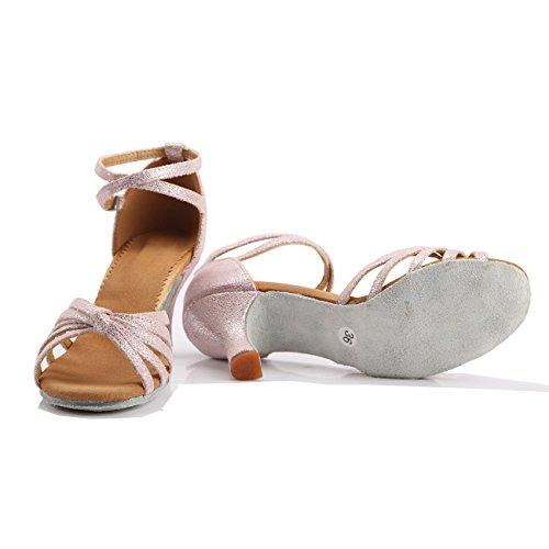 Hoher Absatz Rosa VESI Standard Latein Damen Tanzschuhe S5RqBnvFq