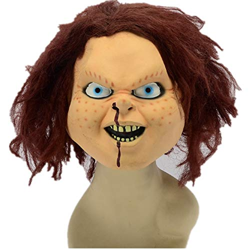 ODOSAN 3D Full Halloween Party Costume Chucky Head Mask for -