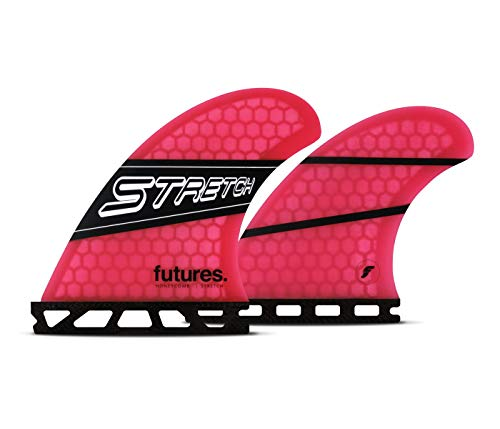 Future Fins Stretch Honeycomb Quad Fin Set Pink-Black (Quad Fins)