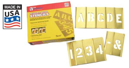 CH Hanson 6 in Brass Interlocking Stencils Letters and Numbers 45 Piece Set (Ch Hanson Brass Stencils compare prices)