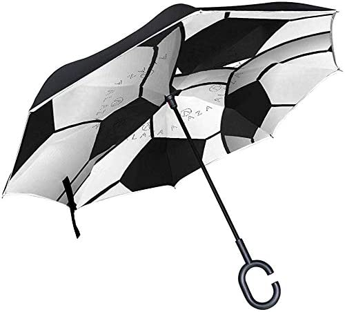 Be-ryl-Car reverse umbrella Wendeschirm Ladninag Wendeschirm Passion Fruit Art Wendeschirm für Golfwagen Travel Rain Outdoor Schwarz