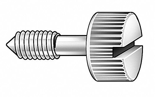 1-1/4'' 18-8 Stainless Steel Captive Panel Screw with 1/4-20 Thread Size and Knurled Head Type by GRAINGER APPROVED