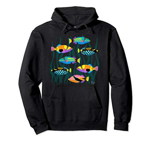 Hawaiian Triggerfish Coral Reef Tropical Fish  Pullover Hoodie