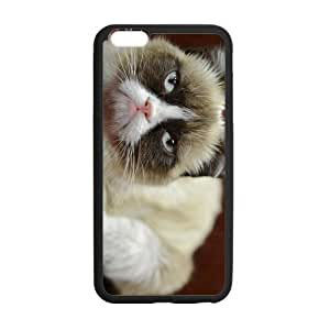 iPhone 6 Plus Case, Grumpy Cat Cute Cool TPU Frame & PC Hard Back Protective Cover Bumper Case for iPhone 6 Plus 5.5 Inch On 2014