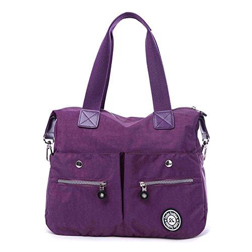 [HIFISH HB20057 Nylon Handbag for Women,Fashion Solid Shoulder Bags,Plum] (Hobo Costume For Toddler)