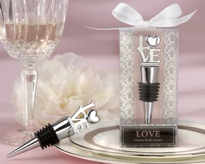 ''LOVE'' Chrome Bottle Stopper - Set of 50