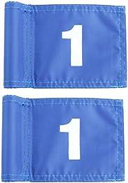 LIOOBO Practice Green Golf Flags Golf Marking Flag Portable Golf Training Golf Target Flags (Blue 12 X 18 cm N