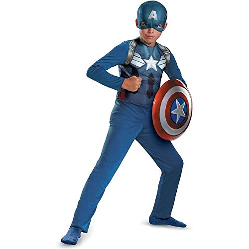[Captain America Movie 2 Basic Costume (Small 4-6)] (Captain America First Avenger Halloween Costume)