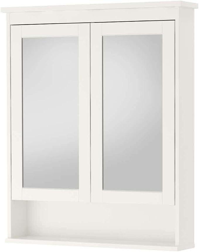 IKEA ASIA HEMNES - Armario de Espejo con 2 Puertas, Color Blanco ...