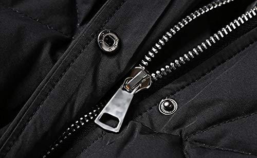 Collo Alto Donna Dimensioni L Nero Da Piumino Cappuccio E colore Con Largo Jbhurf Nero E0fIqP