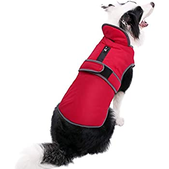 MIGOHI Reflective Waterproof Windproof Dog Coat Cold Weather Warm Dog Jacket Reversible Stormguard Design Winter Dog Vest for Small Medium Large Dogs Red XL