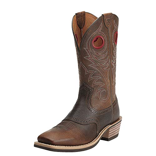 Ariat Men's Heritage Roughstock WST Brown Oiled Rowdy Boot 7 D - Medium