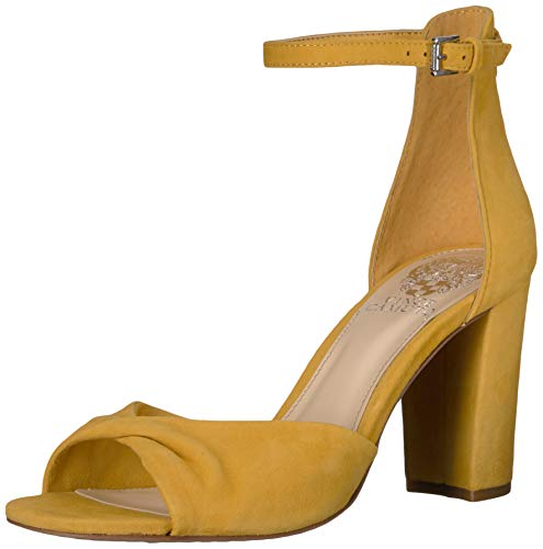 Vince Camuto Women's Wesher Heeled Sandal, Yellow, 9 Medium US from Vince Camuto