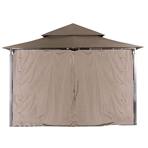 ABCCANOPY Replacement Gazebo Privacy Wall for Target Madaga Gazebo Model L-GZ136PST (Brown)